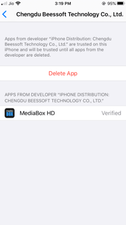 Install MediaBox HD APK on iPhone