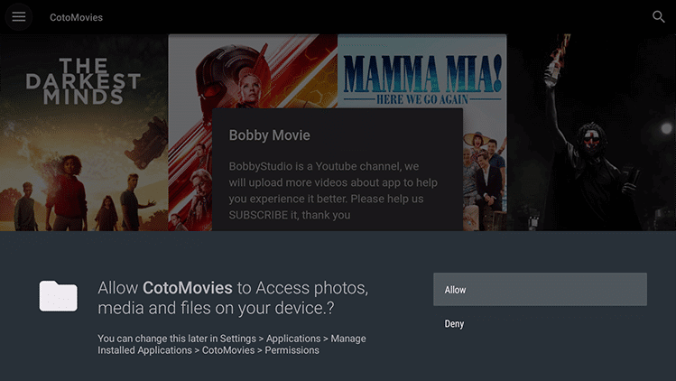 Install CotoMovies in Firestick