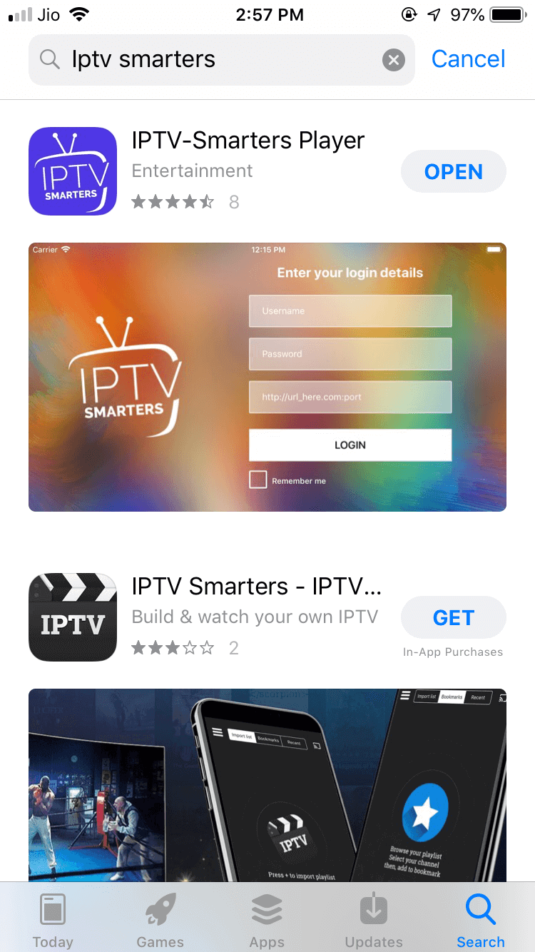 IPTV Smarters for iPhone