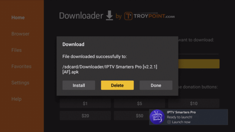Install IPTV Smarters in Firestick