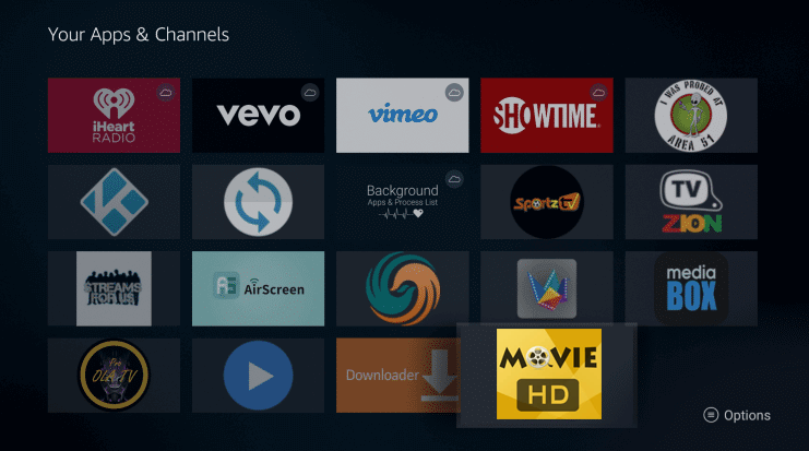 Install Movie HD App on Firestick
