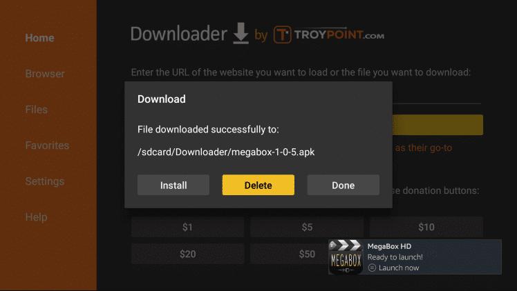 Install MegaBox HD in Firestick