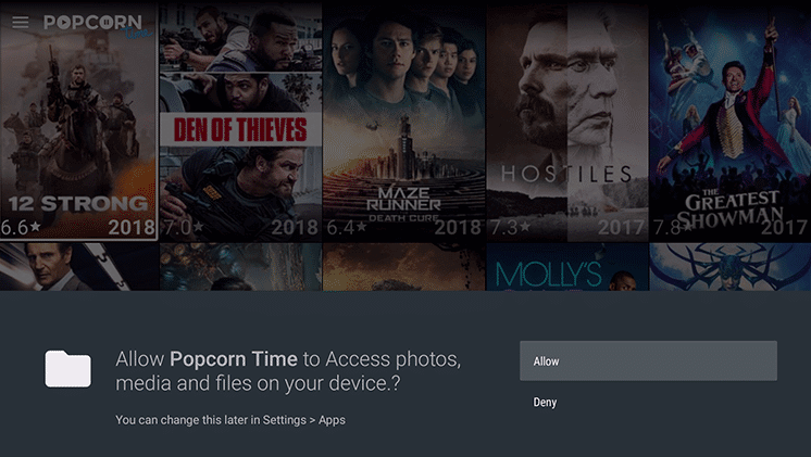 Popcorn Time on Amazon Firestick