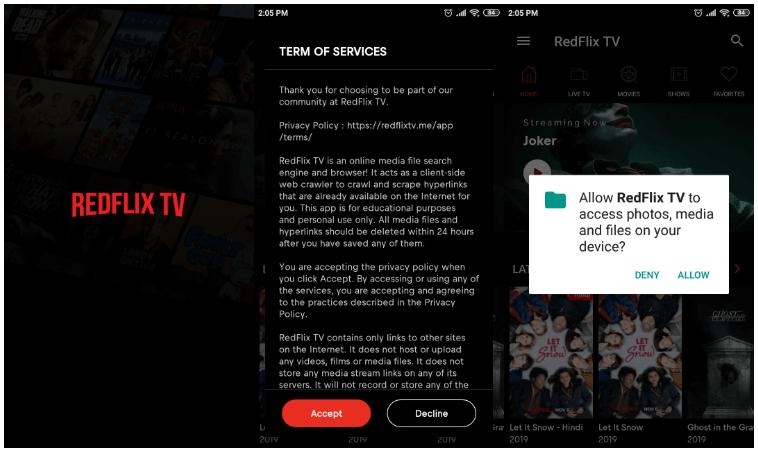 Redflix TV App