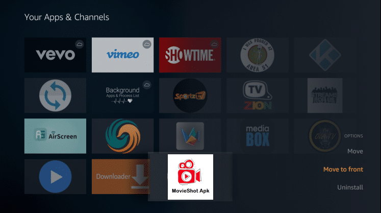 Install MovieShot App on Firestick