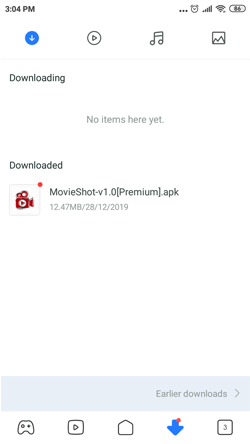 Install MovieShot on Android Smartphones