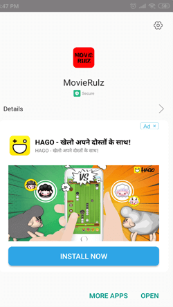 Install MovieRulz APK on Android Smartphones