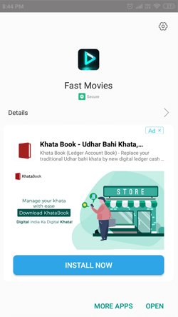 Install Fast Movies on Android Smartphones