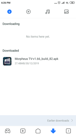 Install Morpheus TV on Android Smartphones