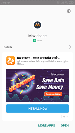 Install MovieBase APK on Android Smartphones