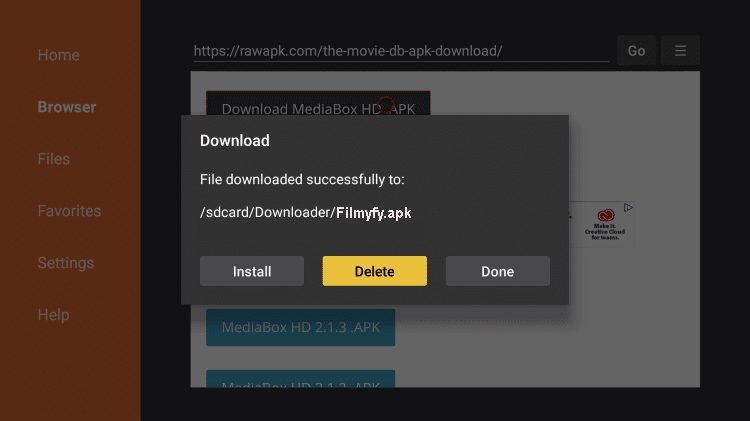 Install FilmyFy APK on Firestick