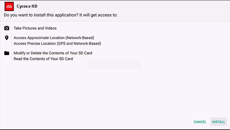 Install Cyrose HD on Firestick