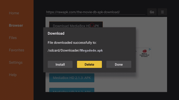 Install Megadede APK on Firestick