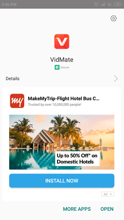 Install VidMate App on Android Smartphones