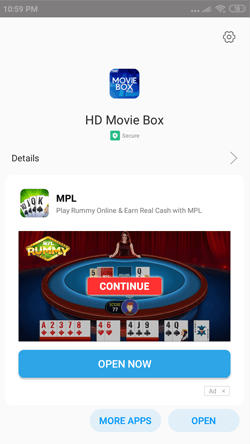 Install HD Movie Boxon Android Smartphones