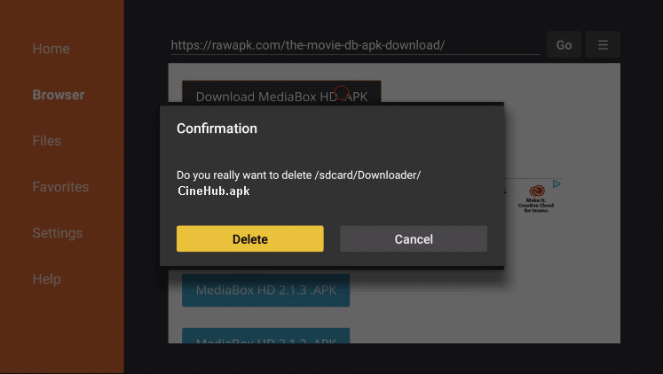 Install CineHub APK on Firestick