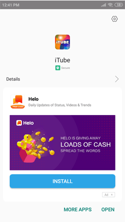 Install iTube App on Android Smartphones