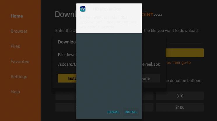 Install HD Movie Box on Firestick