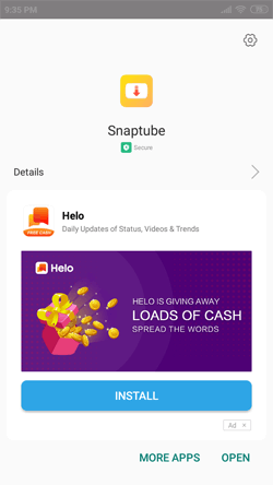 Install Snaptube App on Android Smartphones