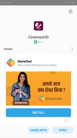 Install CinemaxHD App on Android Smartphones