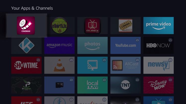 Install CinemaxHD App on Firestick