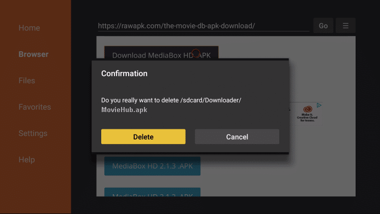 Install Movie Hub APK on Firestick