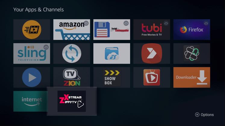 Install ZippyTV Xstream App on Firestick