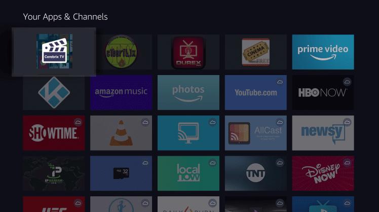Install Cerebrix TV App on Firestick