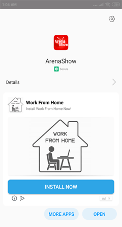 Install Arena Show App on Android Smartphones